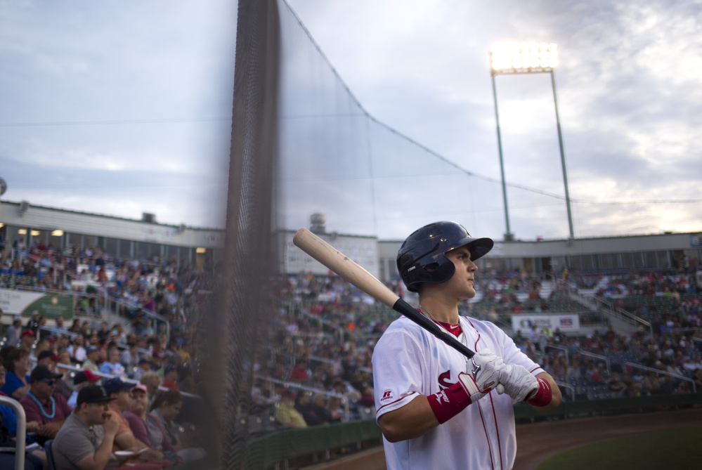 Michael Chavis was off the radar after hitting .237 in 2016, but now is atop the Red Sox prospects list after totaling 31 home runs last season between Class A Salem and the Double-A Portland Sea Dogs. Chavis, a third baseman, also is learning to play first base over the offseason.