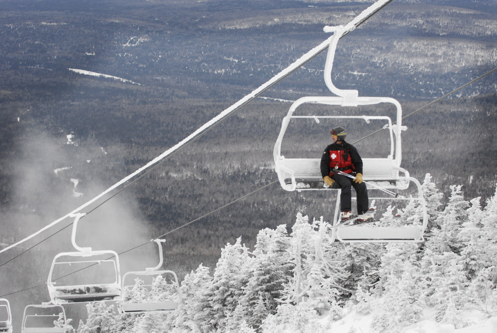 "The future of Saddleback Mountain, shown here in a 2008 photo, is still uncertain, though the new owner of the Rangeley resort is ""committed to opening in some capacity"" this season."