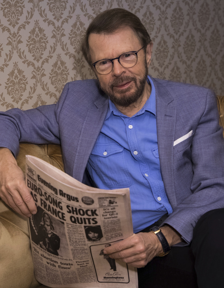 "Bjorn Ulvaeus poses to promote the exhibition ""ABBA: Super Troupers"" in London on Wednesday."