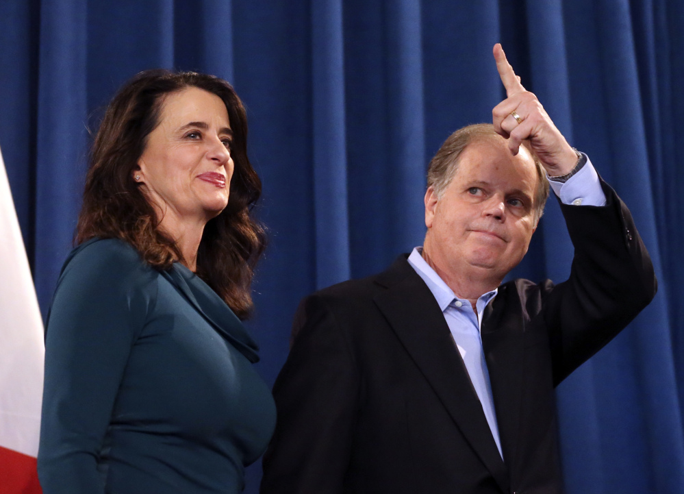 The victory of Democrat Doug Jones, above, over fireband Republican Roy Moore buoys Democrats' hopes of retaking the Senate in 2018.