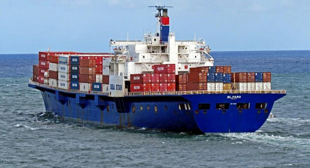 The 40-year-old El Faro, above, a cargo ship servicing Puerto Rico, sank in 2015. It is prohibitively expensive for companies to update their fleets because of the law that requires ships to be made in the United States.