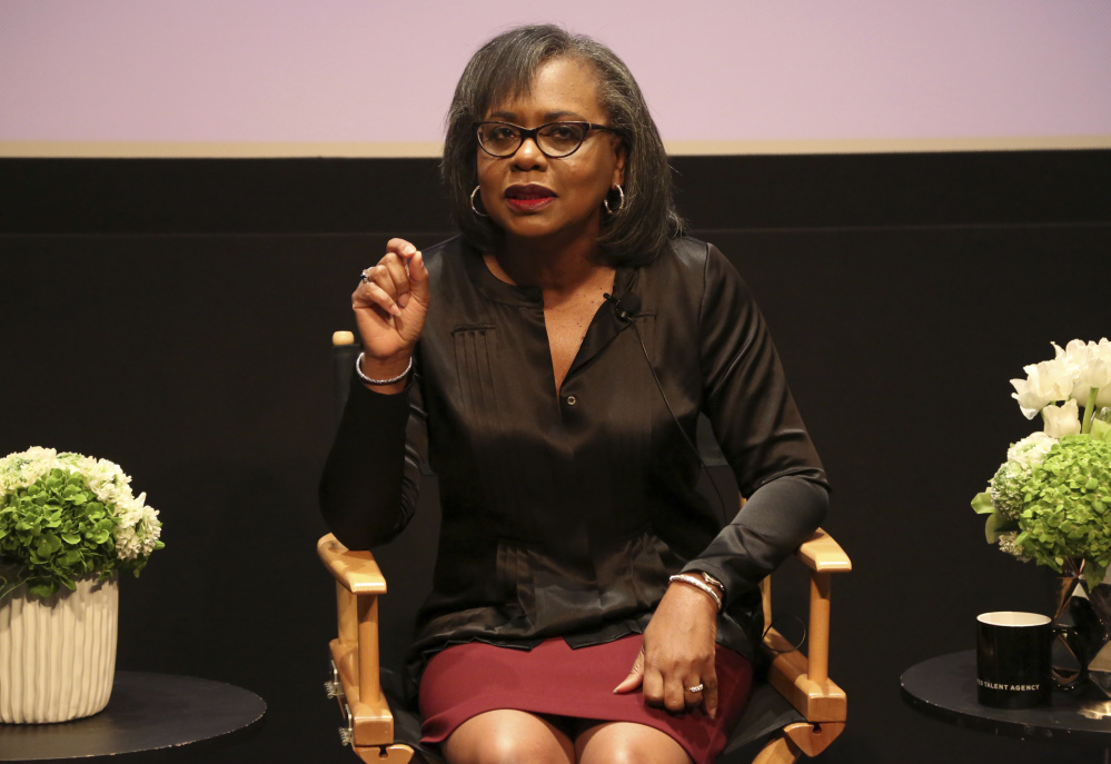 Law professor Anita Hill speaks about sexual harassment during a recent discussion at United Talent Agency in Beverly Hills, Calif.