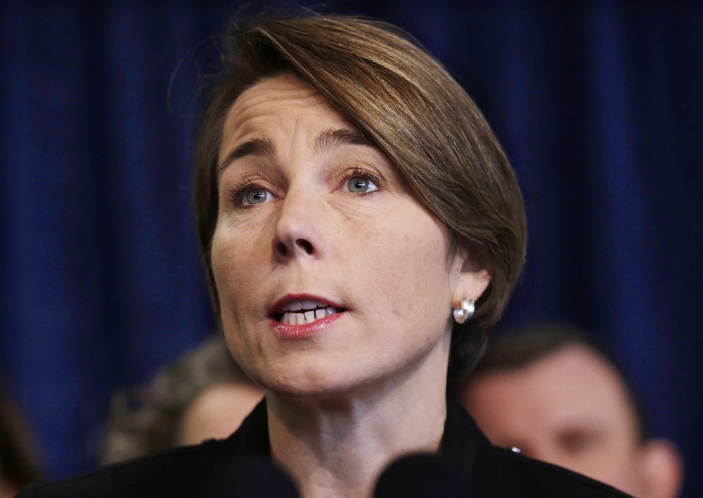 Massachusetts Attorney General Maura Healey participated in more than 20 lawsuits against Trump administration actions. Her Republican rival says her focus is misdirected.
