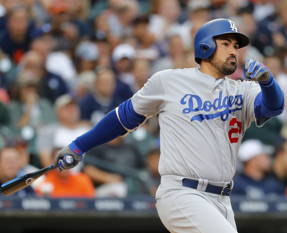 Adrian Gonzalez, who was traded from the Red Sox to the Dodgers in 2012, was formally released by Atlanta.