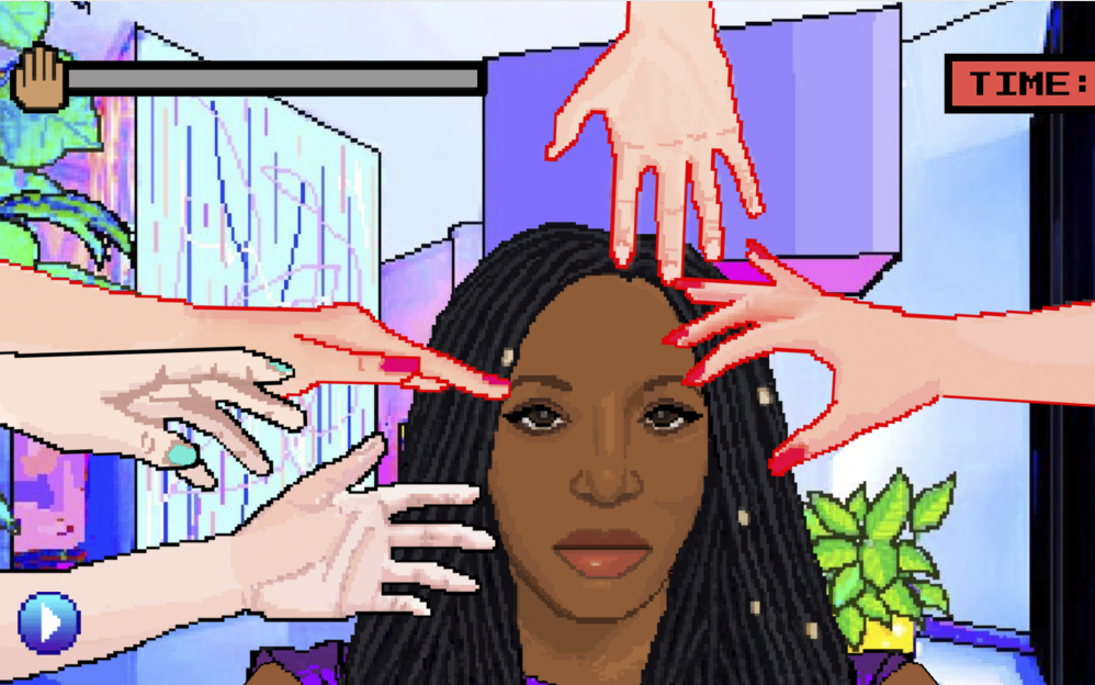 """Online game """"Hair Nah!"""" was inspired by Momo Pixel's experience with strangers trying to touch her hair without permission."""