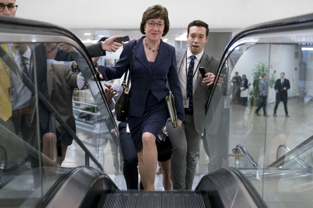 The ACA bills backed by Sen. Susan Collins would slow premium increases and help health insurers stay in the individual marketplace.