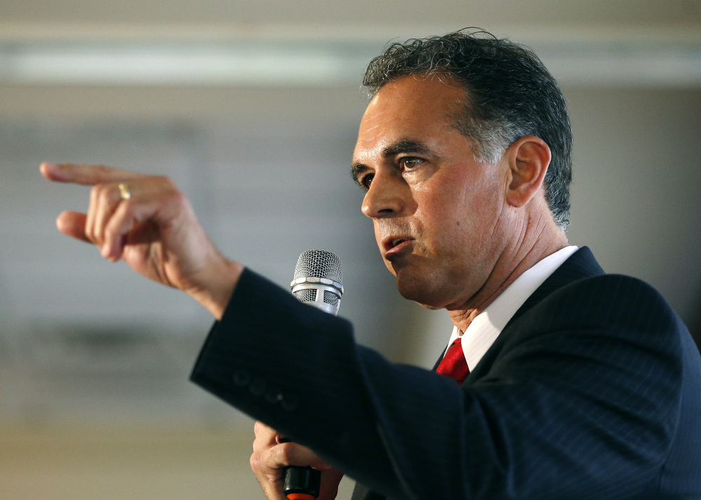 Danny Tarkanian participates in a Republican debate for Nevada's 3rd District in Henderson, Nev.
