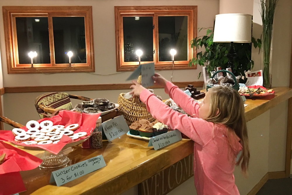 Lucy Kenney of Cumberland, 10, held a bake sale to benefit the Portland Press Herald Toy Fund.