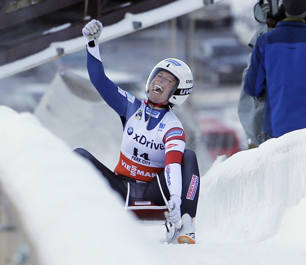 Emily Sweeney, who was born in Portland and lived in Falmouth until 2003, has come so close before to realizing a dream that began when she was age 7 – making the Olympic team. Now she's done it and the smile is permanent.