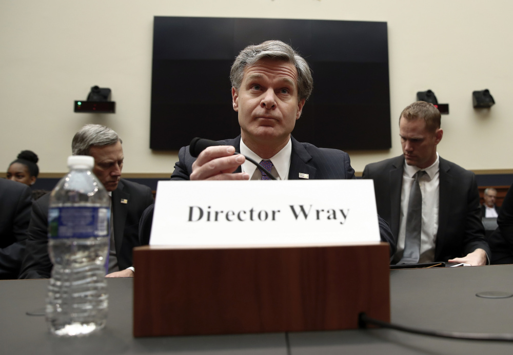 FBI Director Christopher Wray says radicalized extremists and lone wolves represent the greatest threat to the United States.
