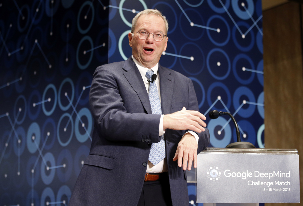 Alphabet Inc. Executive Chairman Eric Schmidt leaves at a time when Google is under criticism for its size and dominance.