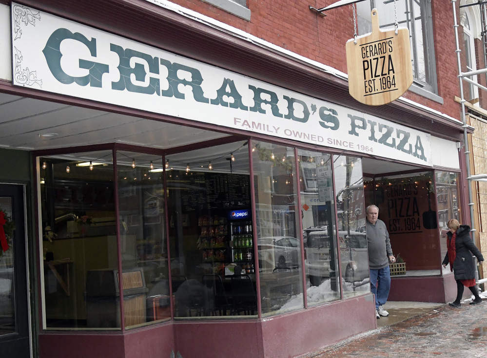 Gerard's Pizza on Water Street in Gardiner, seen Tuesday, reopened recently.