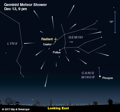 Geminid Meteor Shower Peaks Wednesday Night