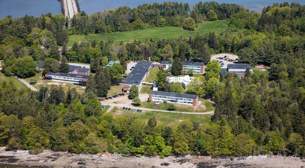 """The Maine Educational Center for the Deaf and Hard of Hearing campus on Mackworth Island. The school has several unoccupied buildings that it says are """"at risk of rapid decay."""""""