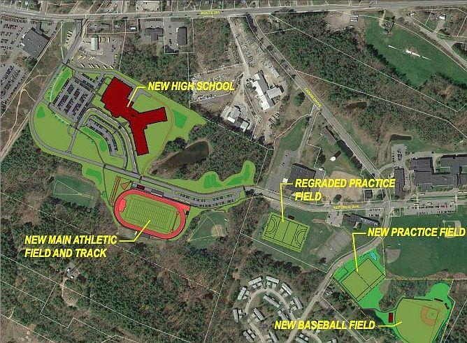 This visual shows placement of the new Mt. Ararat High School.