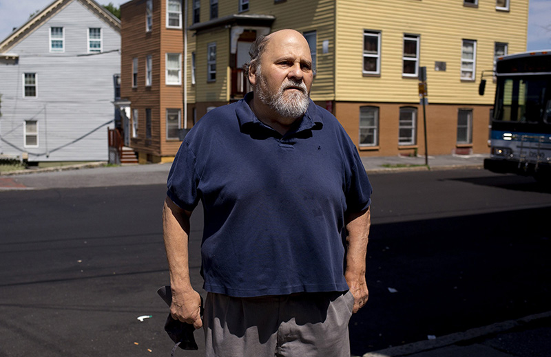 Steve Hirshon, photographed in 2016  at the corner of Oxford, Portland and Adler streets in Bayside.