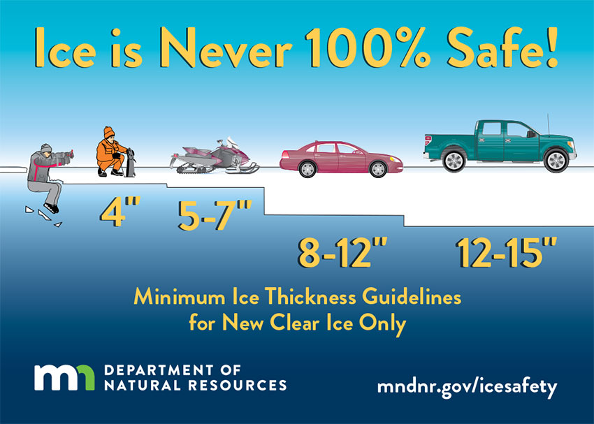 Ice will continue to thicken this weekend, but may not be safe for all activities everywhere yet.