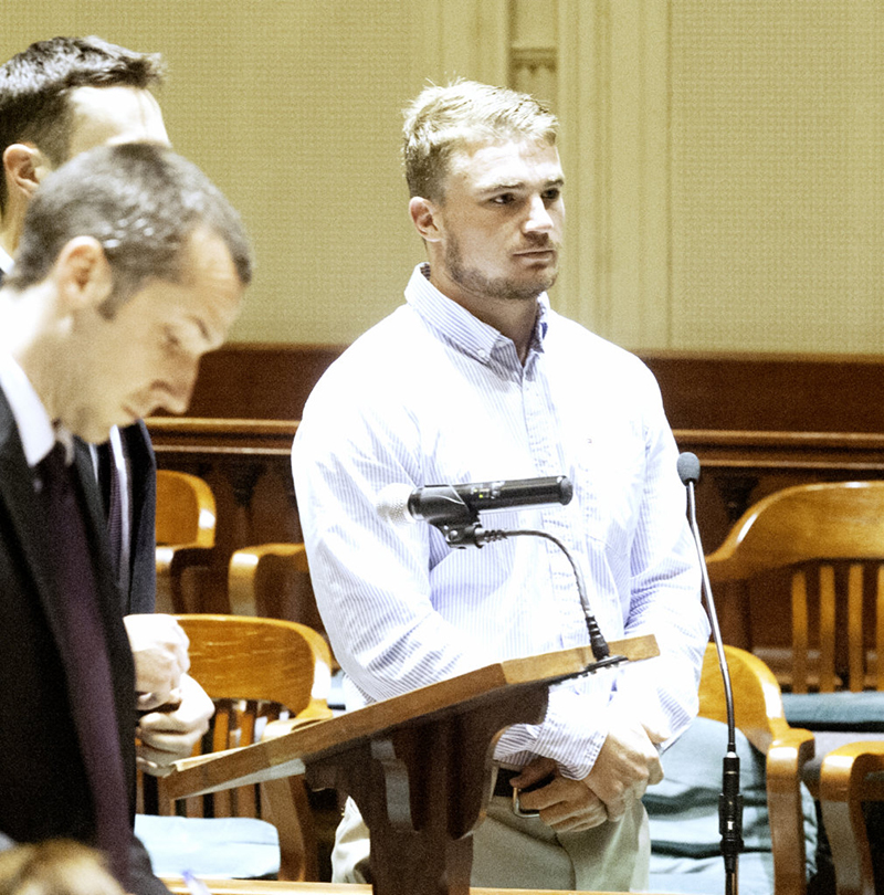 Mac Jackson at a 2015 hearing in Androscoggin County Superior Court in Auburn.