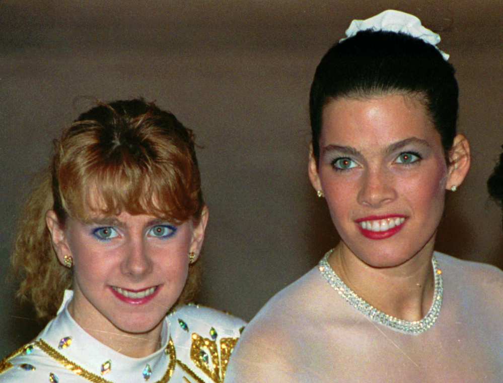 In the early 1990s Tonya Harding, left, and Nancy Kerrigan were often locked in fierce competition on the ice.