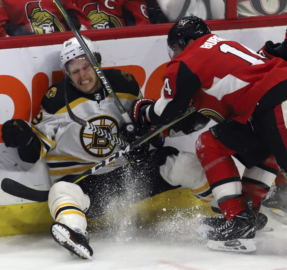 David Pastrnak may be down now when it comes to scoring goals for the Boston Bruins, but Coach Bruce Cassidy doesn't believe the streak will be prolonged.