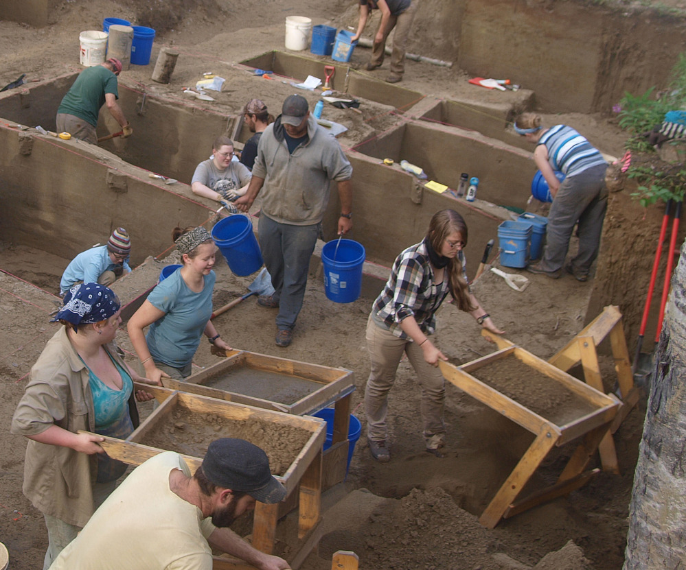 Excavators work at a site in Alaska, where the DNA from the remains of a girl is helping to tell how her people got there.