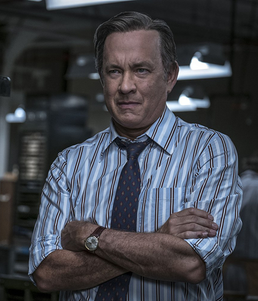 Tom Hanks as Washington Post editor Ben Bradlee in