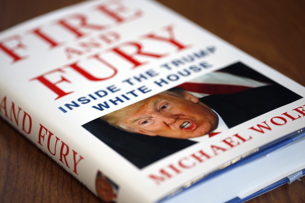 """Fire and Fury"" was the No. 1 seller on Amazon's book list Friday. The White House has called the account ""phony."""