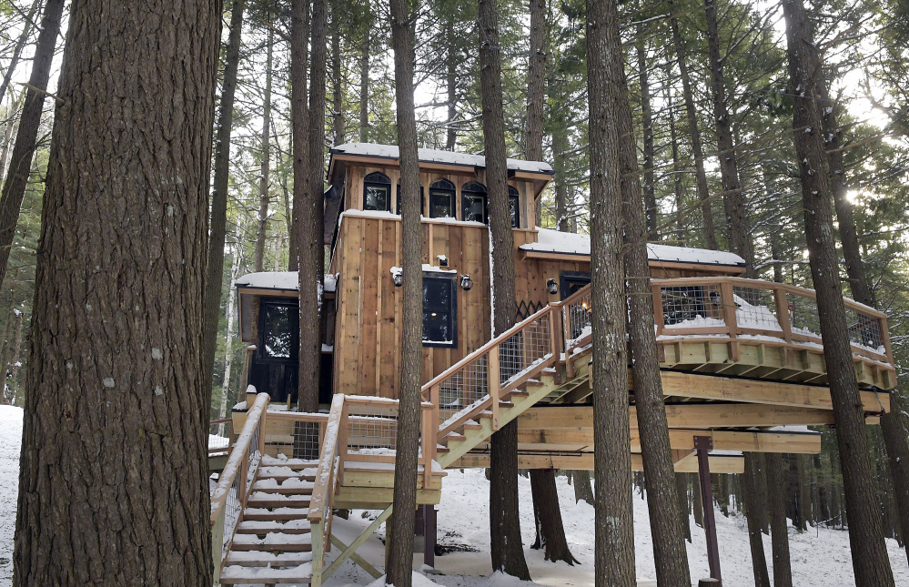 Owner of maine treehouse featured on animal planet they for Building a house in maine