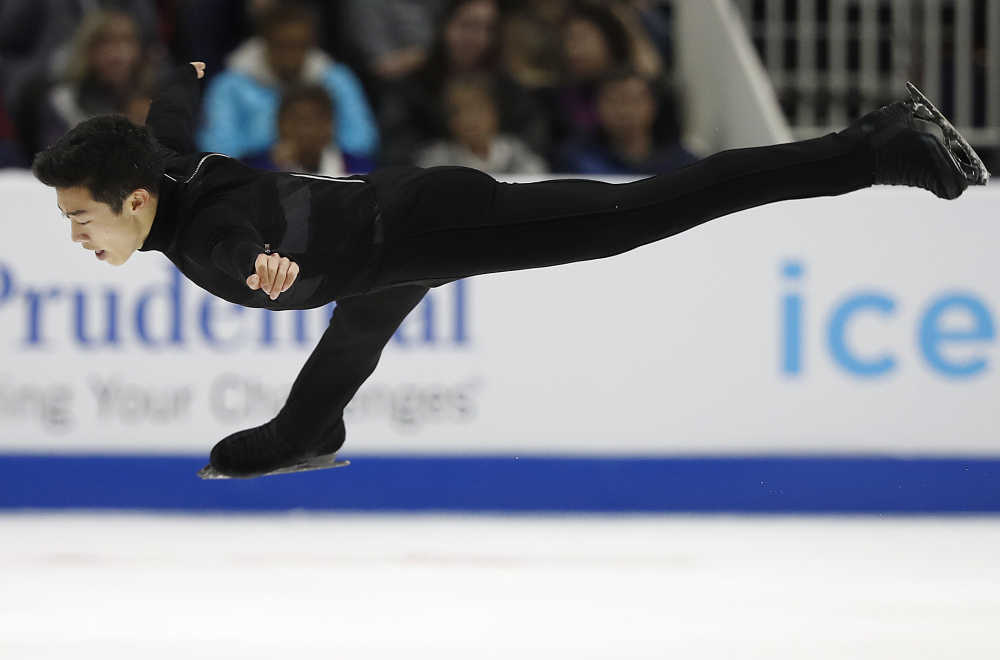 Though he's only 18, Nathan Chen is already a two-time national champion after his victory Saturday at the U.S. Figure Skating Championships in San Jose, Calif.