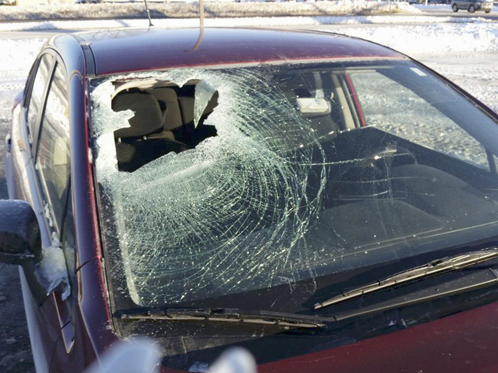 Rob Condon had just dropped off his son at a day care last month when a chunk of ice came hurtling through his windshield.