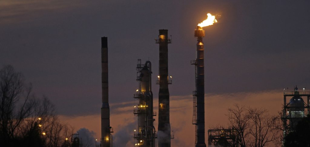 An ExxonMobil refinery in St. Bernard Parish, La. New York City will begin dumping about $5 billion in pension fund investments in fossil fuel companies, including Exxon Mobil.