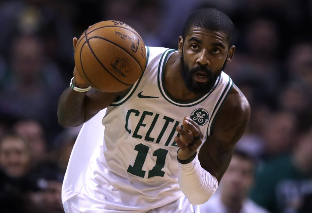 Kyrie Irving and the Celtics get a rare 3 p.m. start Thursday, at least for us on the East Coast. Boston and Philadelphia are in London, helping to bring the game to the world.