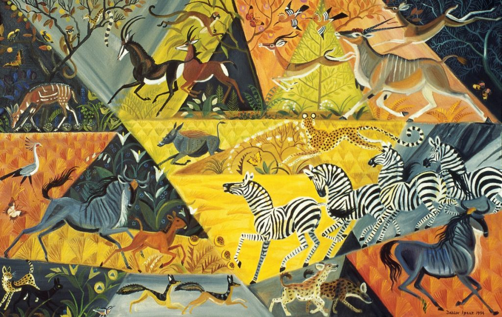 """Luando Morning,"" 1994, oil on linen, 30 by 48 inches."