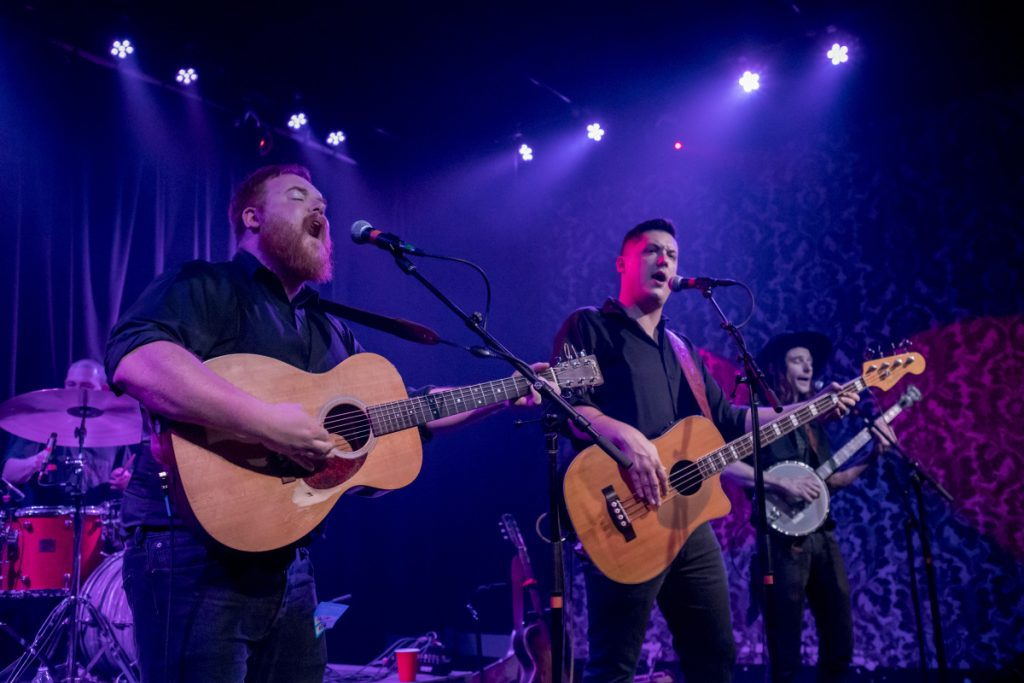 The Ghost of Paul Revere's Griffin Sherry, left, Sean McCarthy and Max Davis perform during a sold-out show in December at Port City Music Hall in Portland.