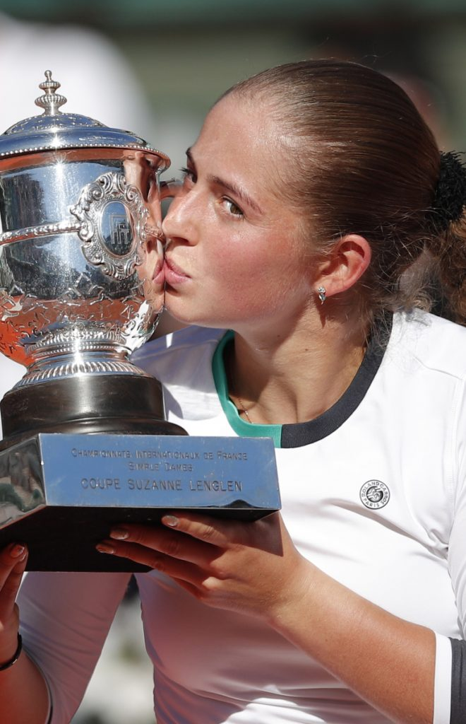 Jelena Ostapenko beat Simona Halep at the French Open last year to win the first Grand Slam title of her career.