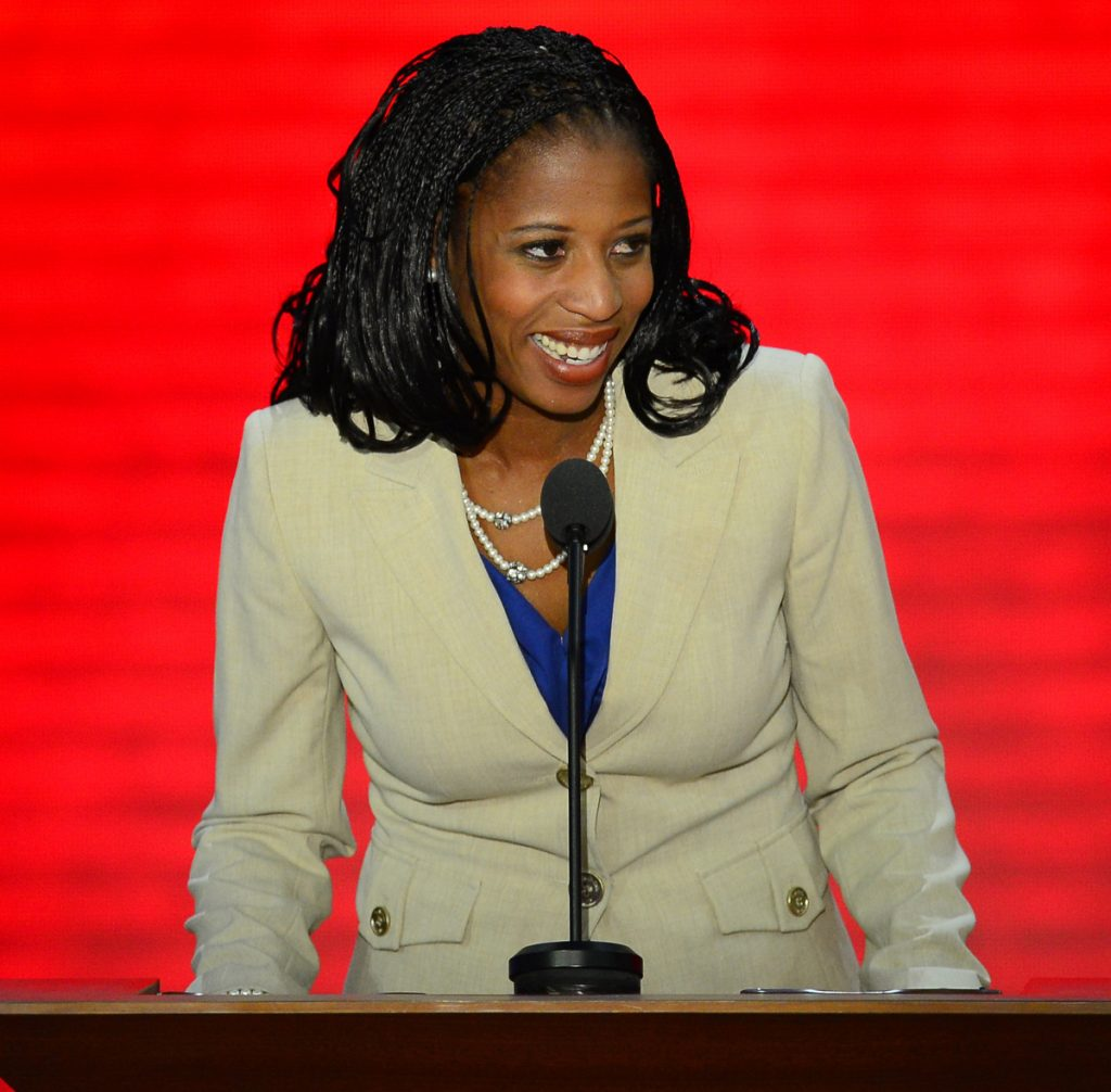 "Utah Republican Rep. Mia Love, pictured in 2012, has called on President Trump to ""apologize to both the American people and the countries he so wantonly maligned."" She should follow that up by introducing a measure of censure."