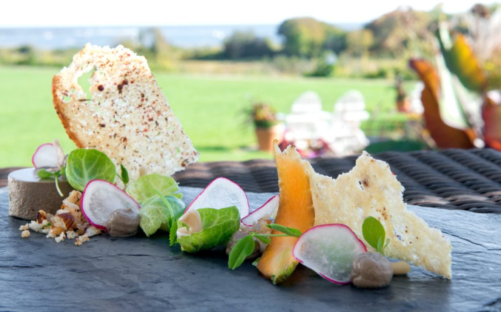 Vegan mushroom torchon was on the menu at a wedding held at the Inn by the Sea in Cape Elizabeth last summer.