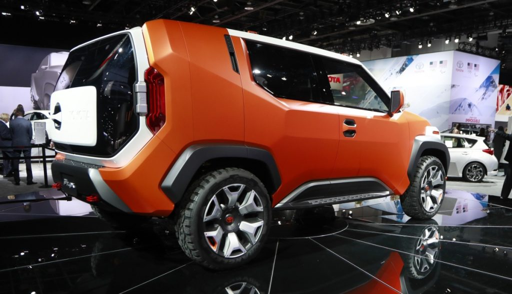 The Toyota FT-4X Concept utility is displayed at the North American International Auto Show on Tuesday.