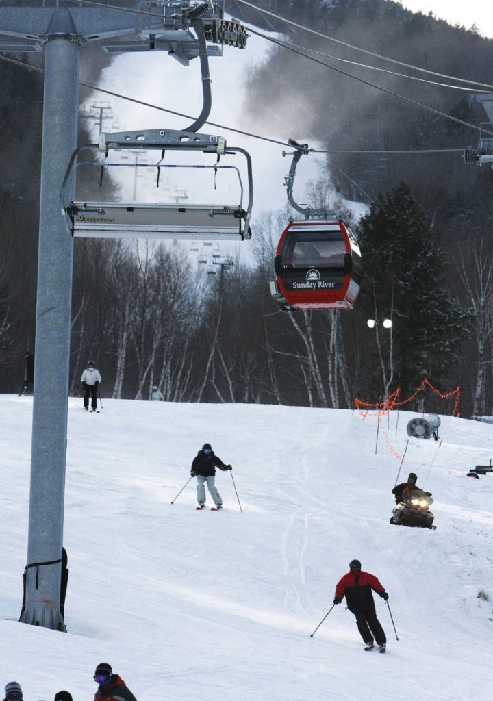 A Sunday River spokeswoman said several teenagers apparently hiked up the mountain after the resort had closed for the day. Sledding and tubing aren't allowed on ski trails even when the resort is open.