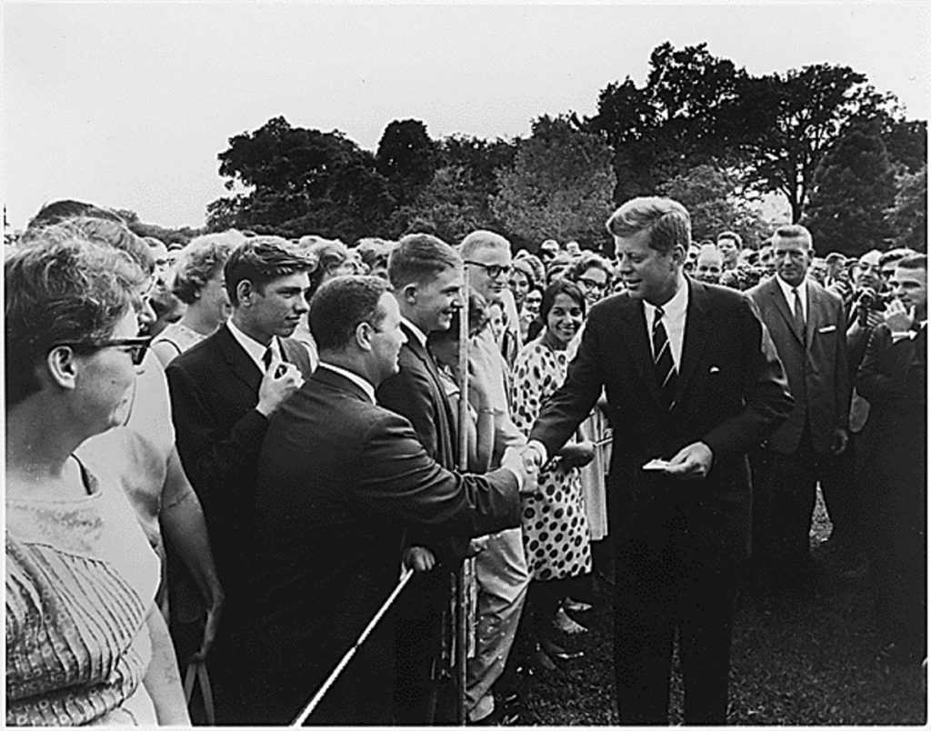 A reader says she learned about the meaning of patriotism when John F. Kennedy spoke in 1960 about creating the Peace Corps.