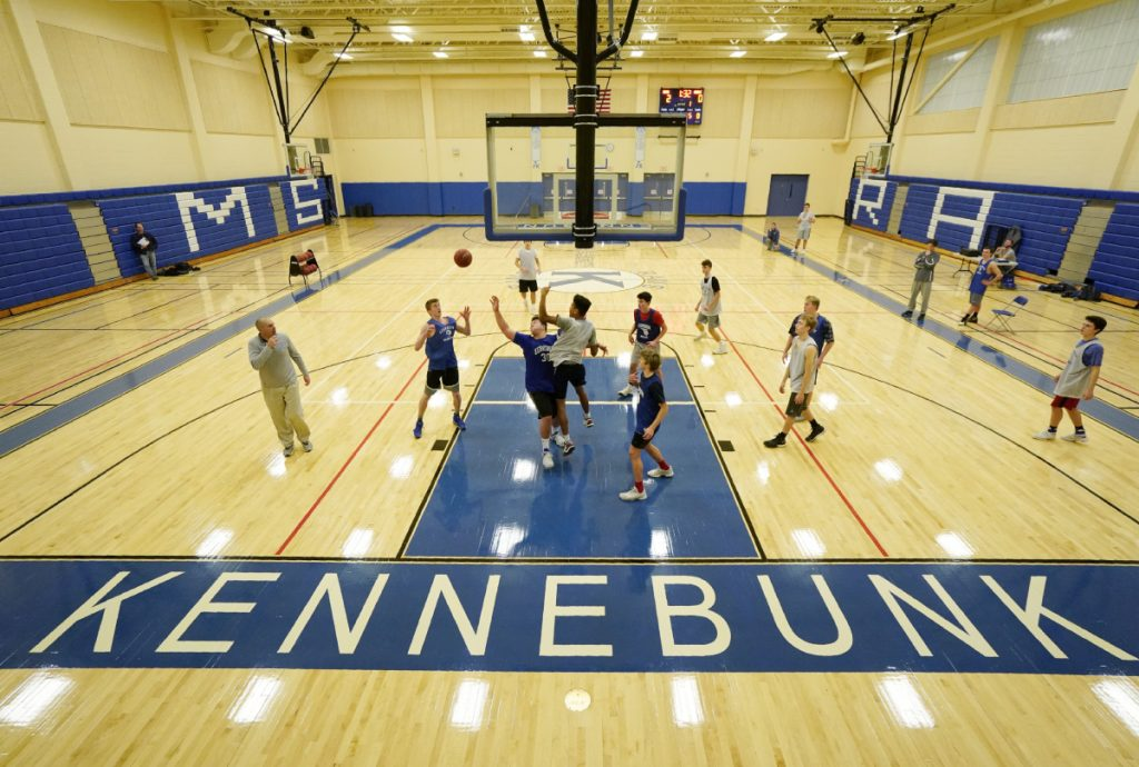 Kennebunk, now in its new gym, entered the boys' basketball season with high hopes, and the Rams have shown they're a contender in tightly packed Class A South, posting seven straight wins after an 0-2 start.