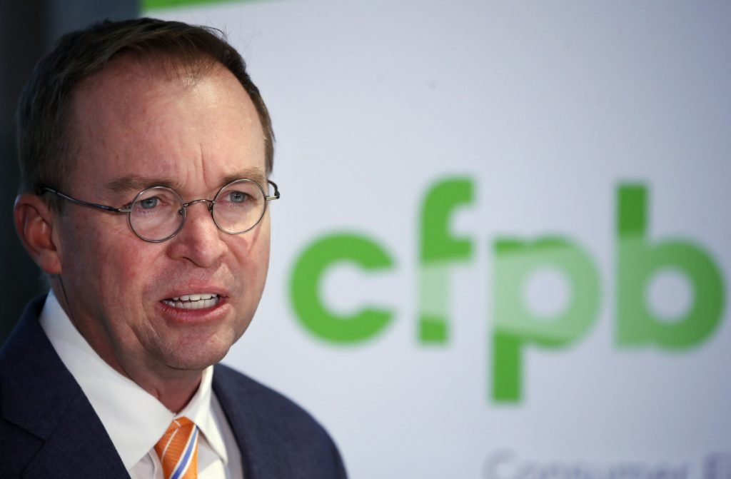 "Mick Mulvaney, acting director of the Consumer Financial Protection Bureau, said the agency will examine its policies and practices ""to ensure they align with the bureau's statutory mandate."" He once called the CFPB a ""sick joke"" of an agency."