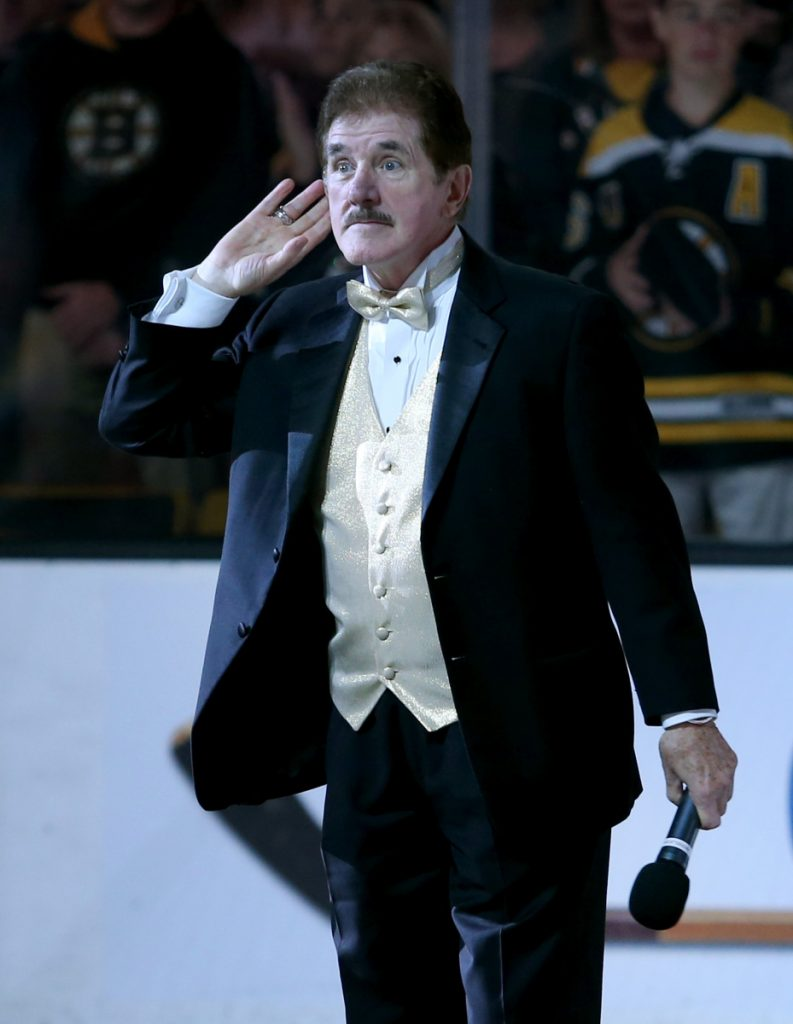 Rene Rancourt, well-known for singing the national anthem before Bruins's games, will retire at the end of the season. Story, D4