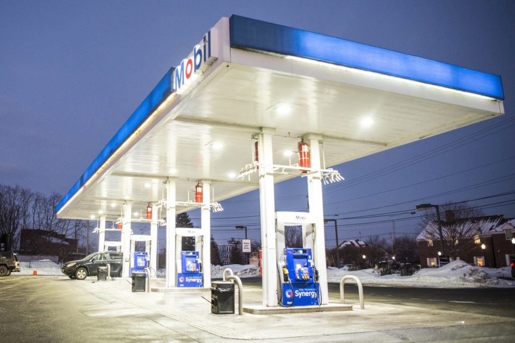 The Mobil station on the corner of Pleasant and North streets In Waterville, seen Thursday, has solved the problem it had with mixed-up diesel and super octane fuel. Regular 87 octane gasoline always has been available there.