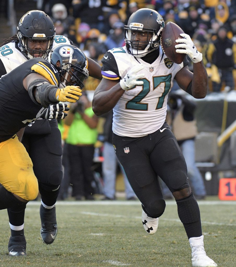 Jacksonville's Leonard Fournette had a big game against the Steelers last Sunday, rushing for 109 yards and three touchdowns. It was his best performance since injuring his ankle in mid-October.