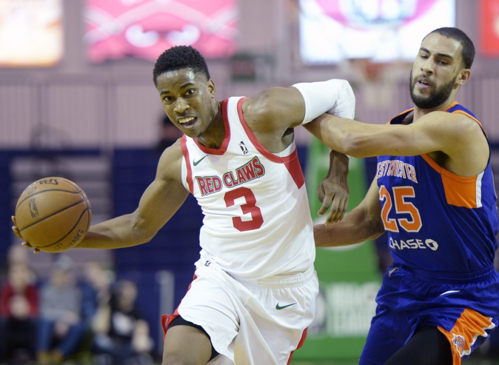 Daniel Dixon of the Maine Red Claws played more than 45 minutes Thursday night, scoring 22 points in a loss to the Westchester Knicks.
