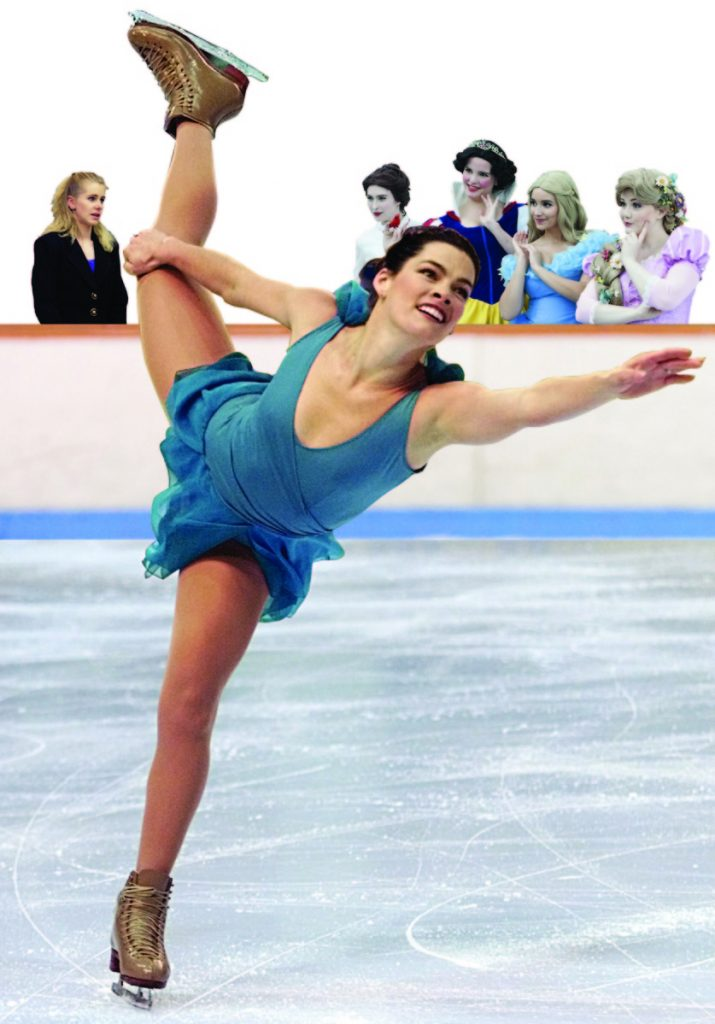 Nancy Kerrigan skates her artistic program at the Goodwill Winter Games in Lake Placid on Feb. 19. Kerrigan finished in third place to win the bronze medal.