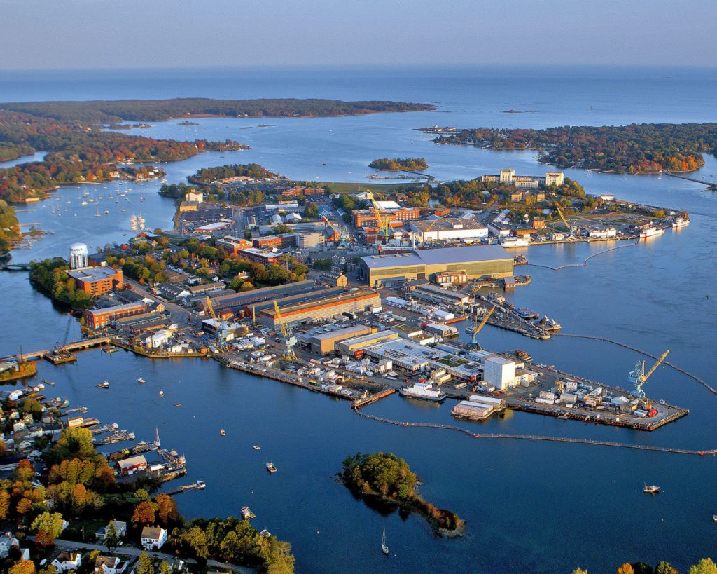 More than 5,400 people work at the Portsmouth Naval Shipyard in Kittery.