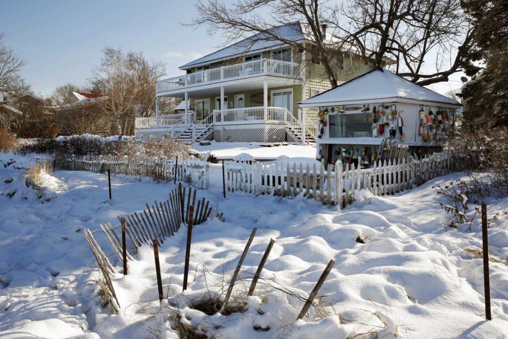 This two-family home on Willard Beach, overlooking Simonton Cove and Casco Bay, is one of a growing number of short-term rental properties in South Portland.