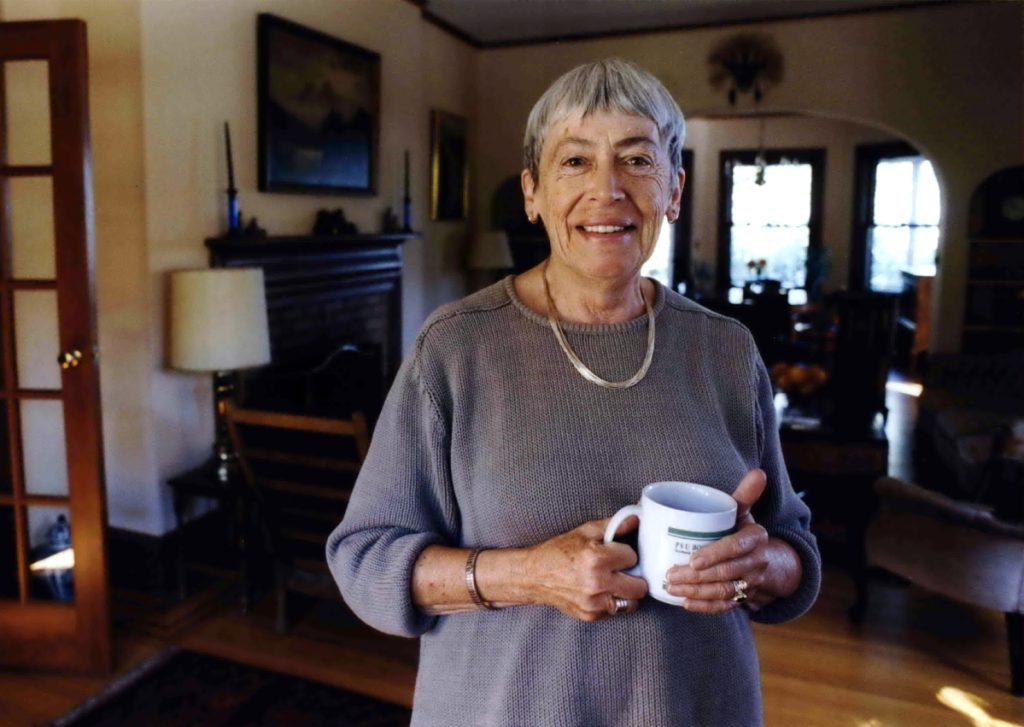 Ursula Le Guin American, an award-winning science fiction and fantasy writer who explored feminist themes, is seen in September 2001. Le Guin died Monday in Portland, Oregon.